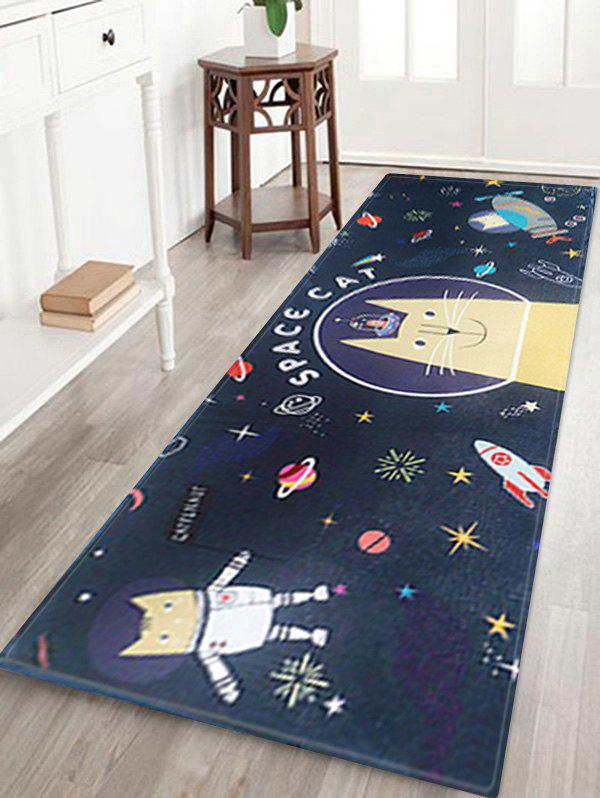 Outfit Space Cat Print Water Absorption Area Rug