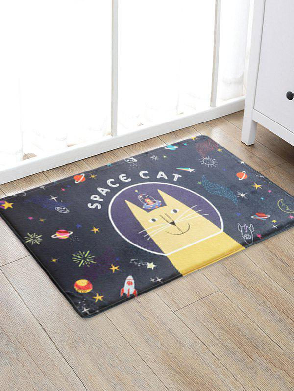 Cheap Space Cat Print Water Absorption Area Rug