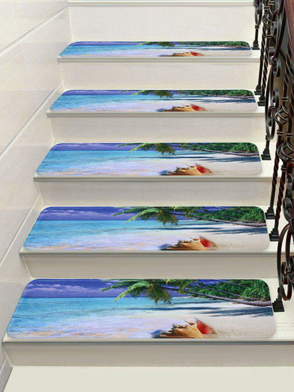Latest Sea Beach Print Decorative Stair Floor Rugs