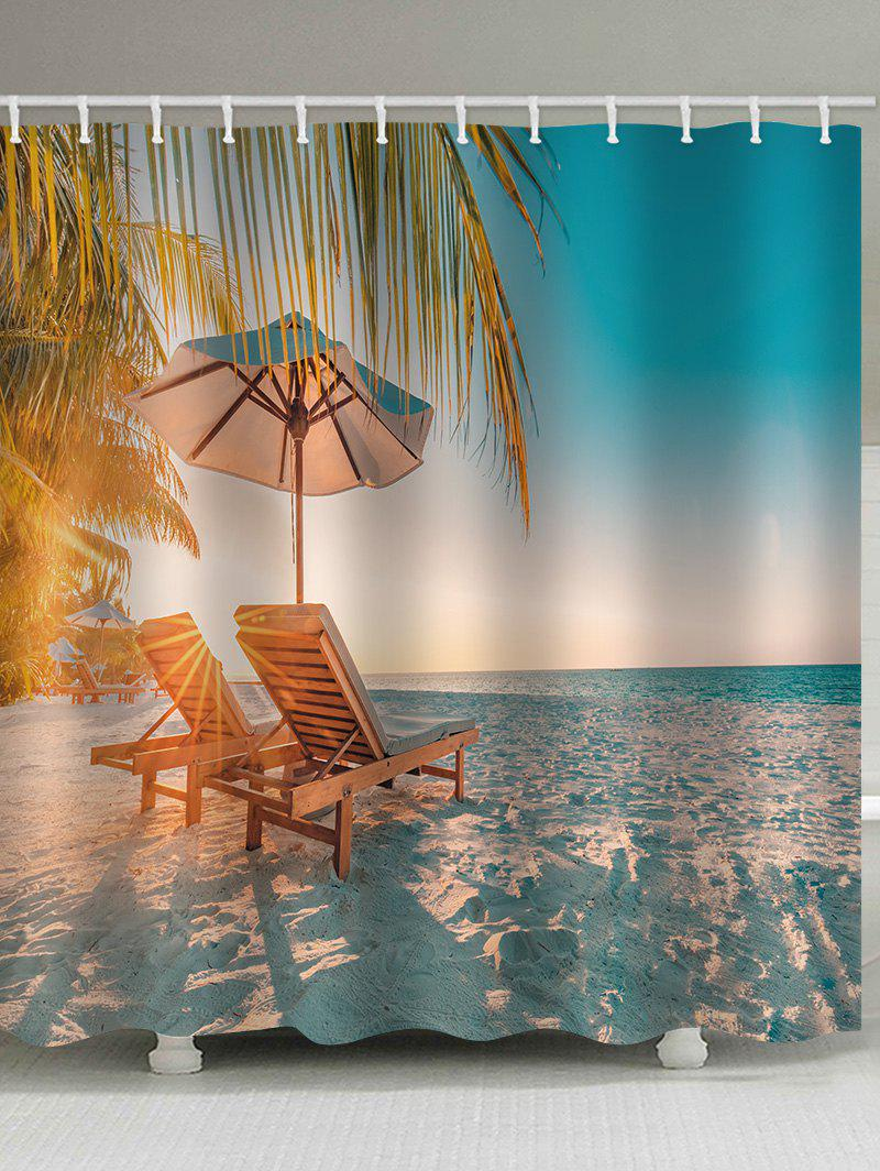 Sale Beach Chair Print Waterproof Bathroom Shower Curtain
