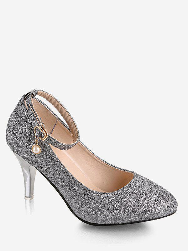 Latest Plus Size Stiletto Heel Glitters Pumps