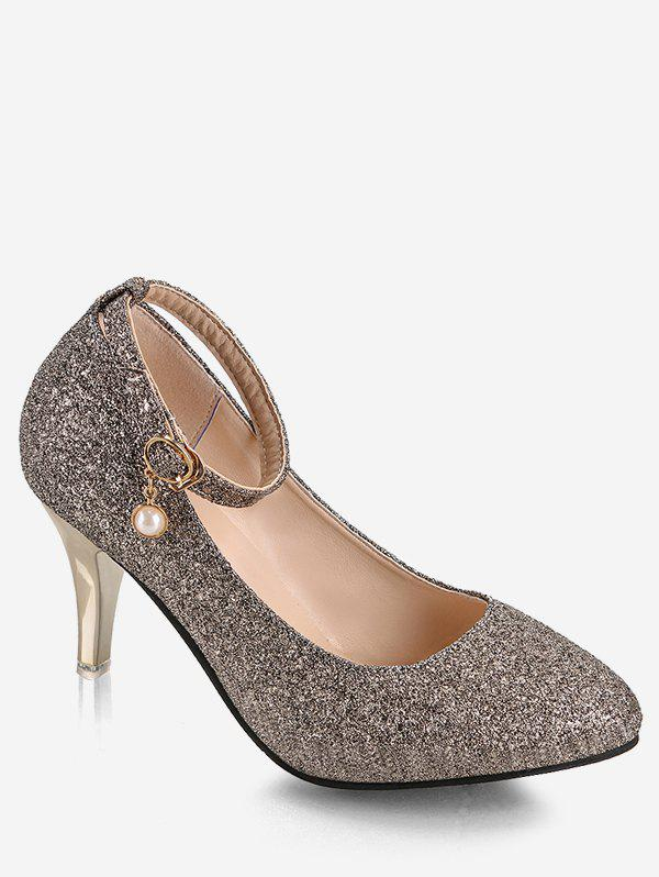 Discount Plus Size Stiletto Heel Glitters Pumps