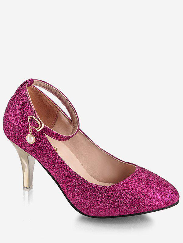 Shop Plus Size Stiletto Heel Glitters Pumps