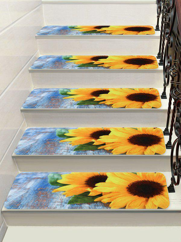 Latest Sunflower Print Decorative Stair Floor Rugs