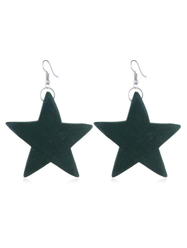 Fashion Stylish Wooden Star Fish Hook Earrings