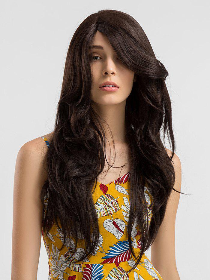 Online Lace Front Synthetic Side Parting Long Wavy Wig