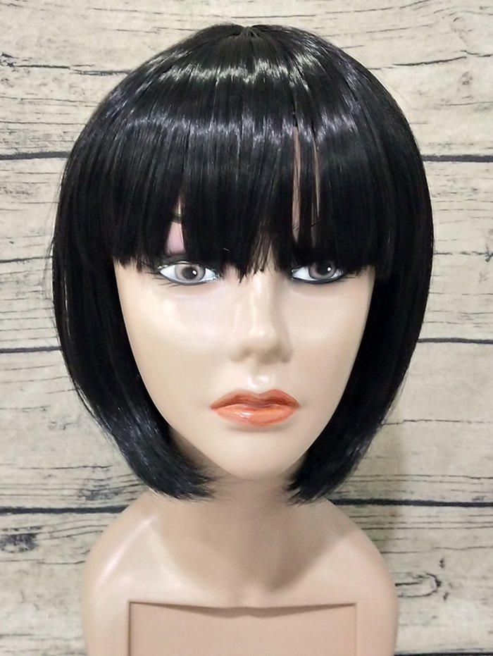 Outfit Short Full Bang Straight Bob Capless Synthetic Wig