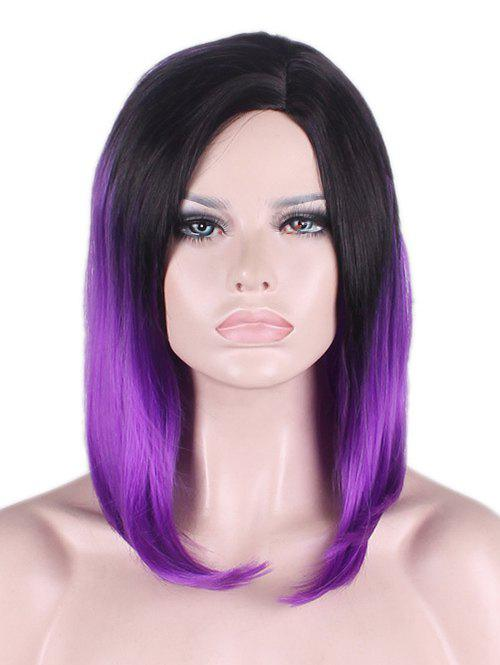 Fashion Medium Side Parting Ombre Straight Bob Synthetic Cosplay Wig