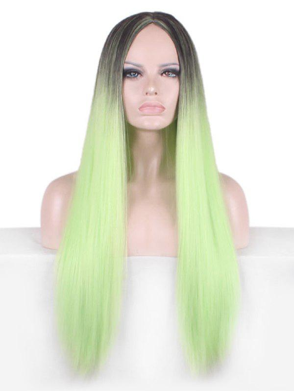 Affordable Long Middle Part Colormix Straight Cosplay Party Synthetic Wig