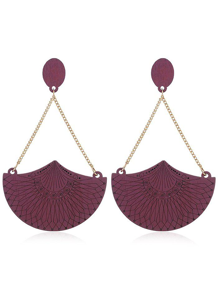 Discount Ethnic Style Geometric Wooden Drop Earrings