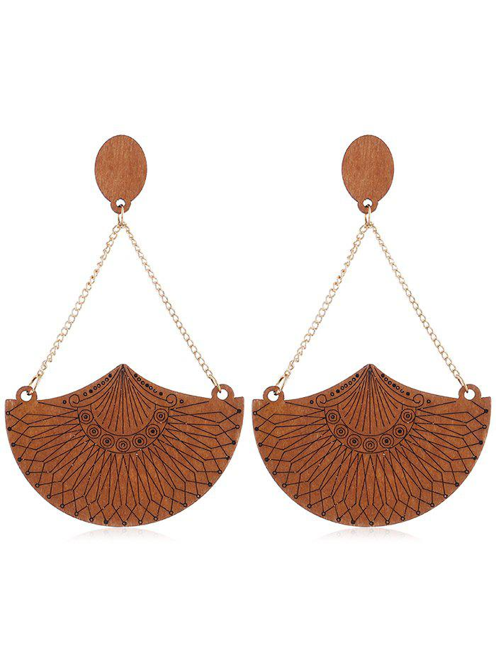 Outfits Ethnic Style Geometric Wooden Drop Earrings