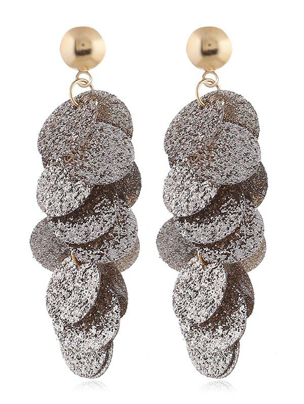 Outfit Round Sequin Fringed Grind Drop Earrings