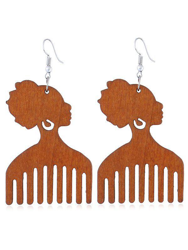 Shop Pretty Lady Comb Fish Hook Earrings