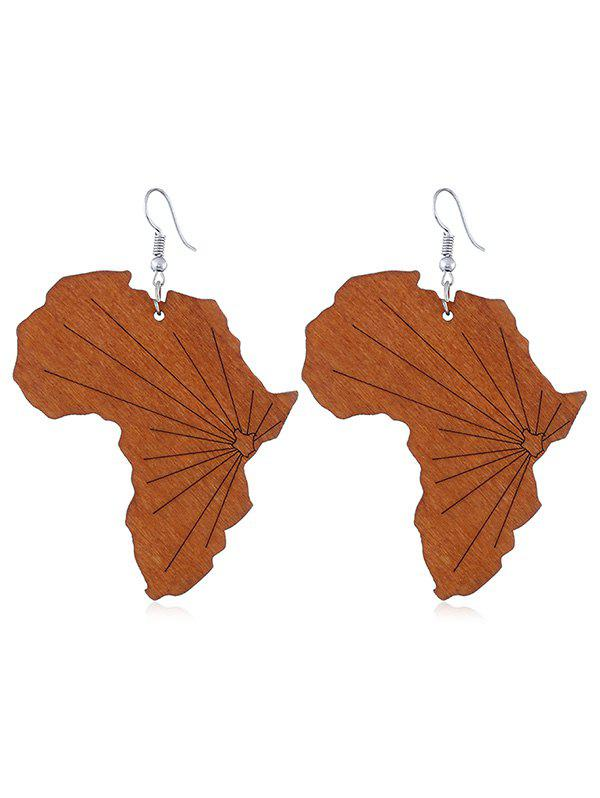 Latest Pair of Wooden Leaf Decorative Hook Earrings