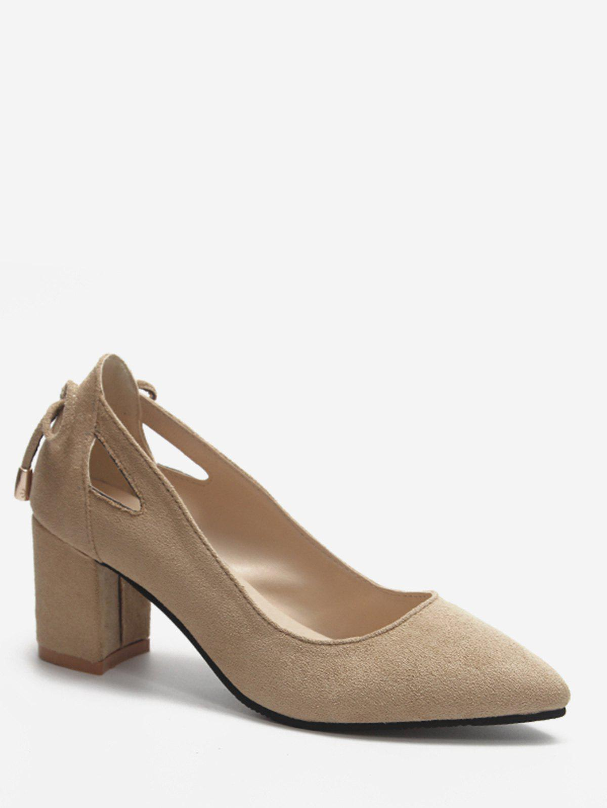 Shop Plus Size Block Heel Cut Out Pumps