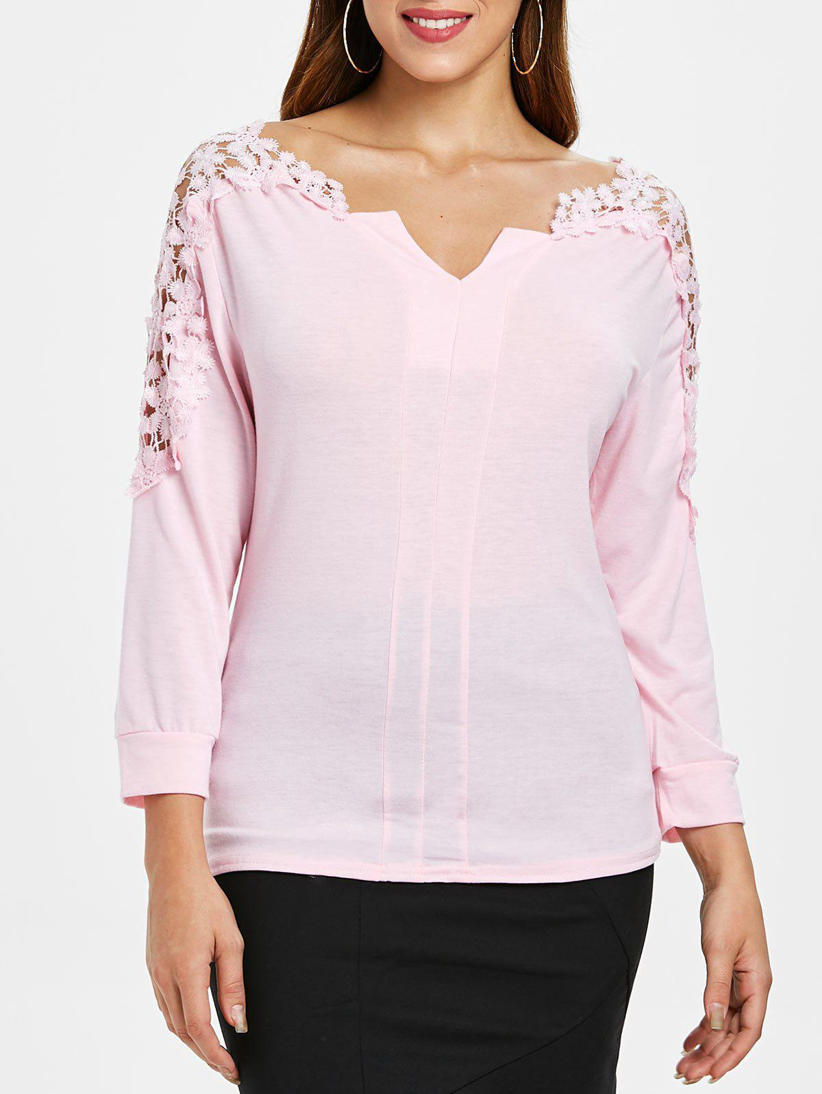 Latest Cutwork Lace Sleeve Top