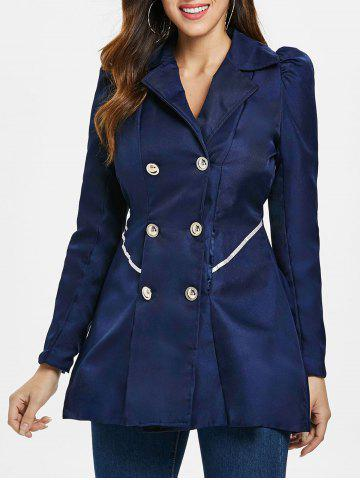 Fit and Flare Coat With Double Breasts