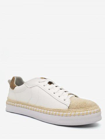 Woven Straw Toe Low Top Espadrille Sneakers