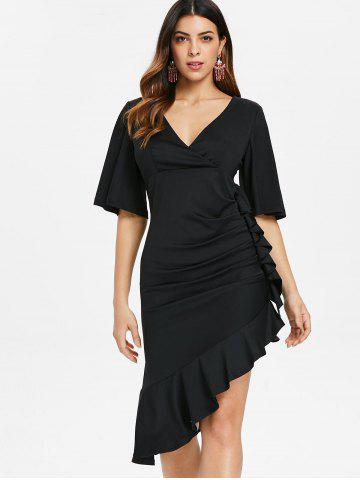 Ruffle Trim Empire Waist Dress