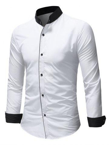 490897dc2322 White Collar Fitted Shirt - Free Shipping, Discount and Cheap Sale ...