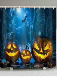 Halloween Pumpkin Print Waterproof Bathroom Shower Curtain -