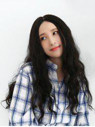 Center Parting Long Natural Wavy Human Hair Wig -