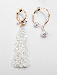 Artificial Pearl Alloy Tassel Earrings -