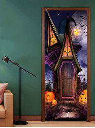 Halloween House Pattern Door Cover Stickers -