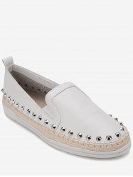 Baskets Mocassins Plats Cloutés -