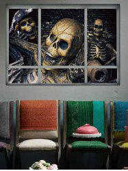 Halloween Skull Skeleton Window Removable Wall Sticker -
