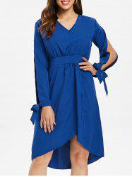 Slit Sleeve A-line Dress -