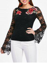 Lace Floral Embroidery Top -
