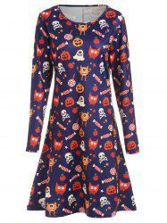Halloween Knee Length Print Dress -