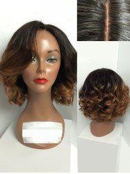 Short Side Parting Ombre Big Curly Capless Synthetic Wig -