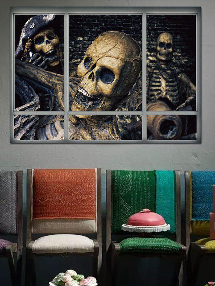Buy Halloween Skull Skeleton Window Removable Wall Sticker
