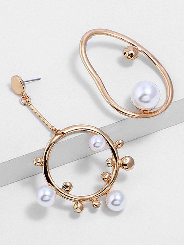 Cheap Artificial Pearl Alloy Geometric Earrings