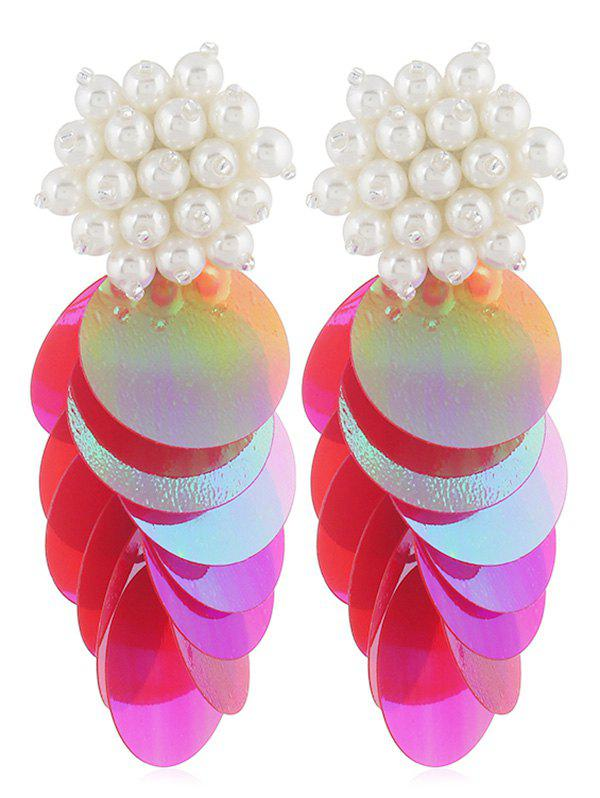 Shop Round Sequins Artificial Pearl Earrings