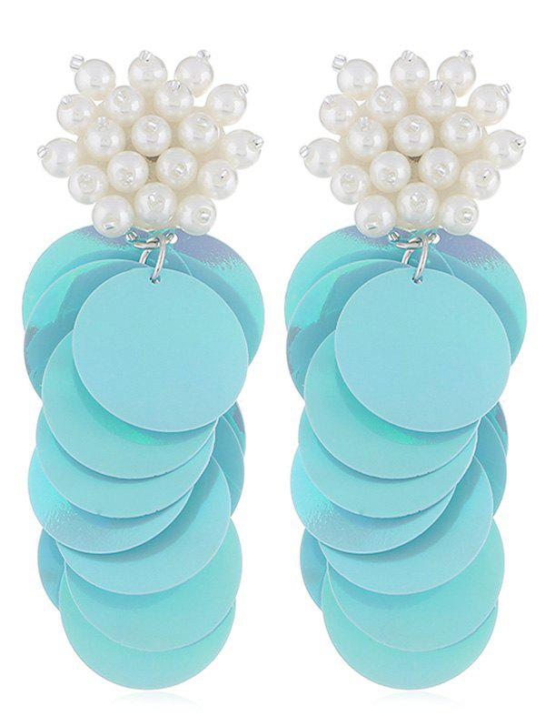 Outfit Round Sequins Artificial Pearl Earrings