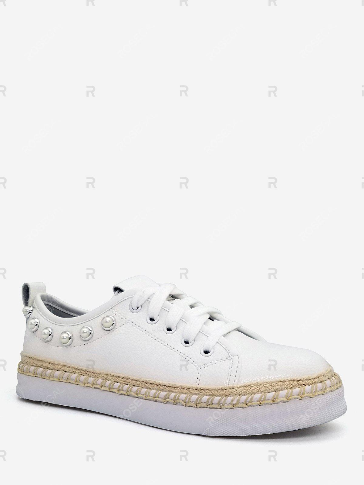 Buy PU Leather Knitted Platform Sneakers