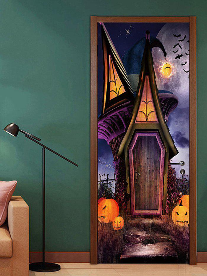 Latest Halloween House Pattern Door Cover Stickers