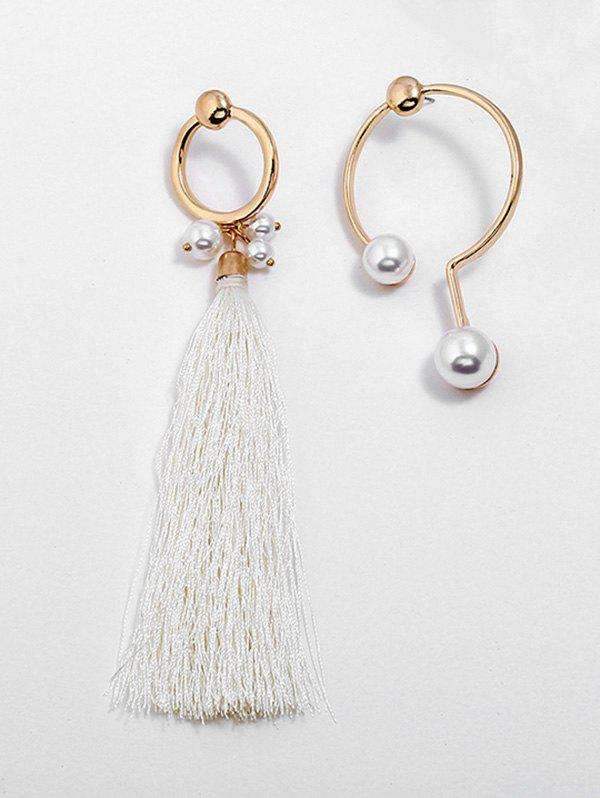 Discount Artificial Pearl Alloy Tassel Earrings