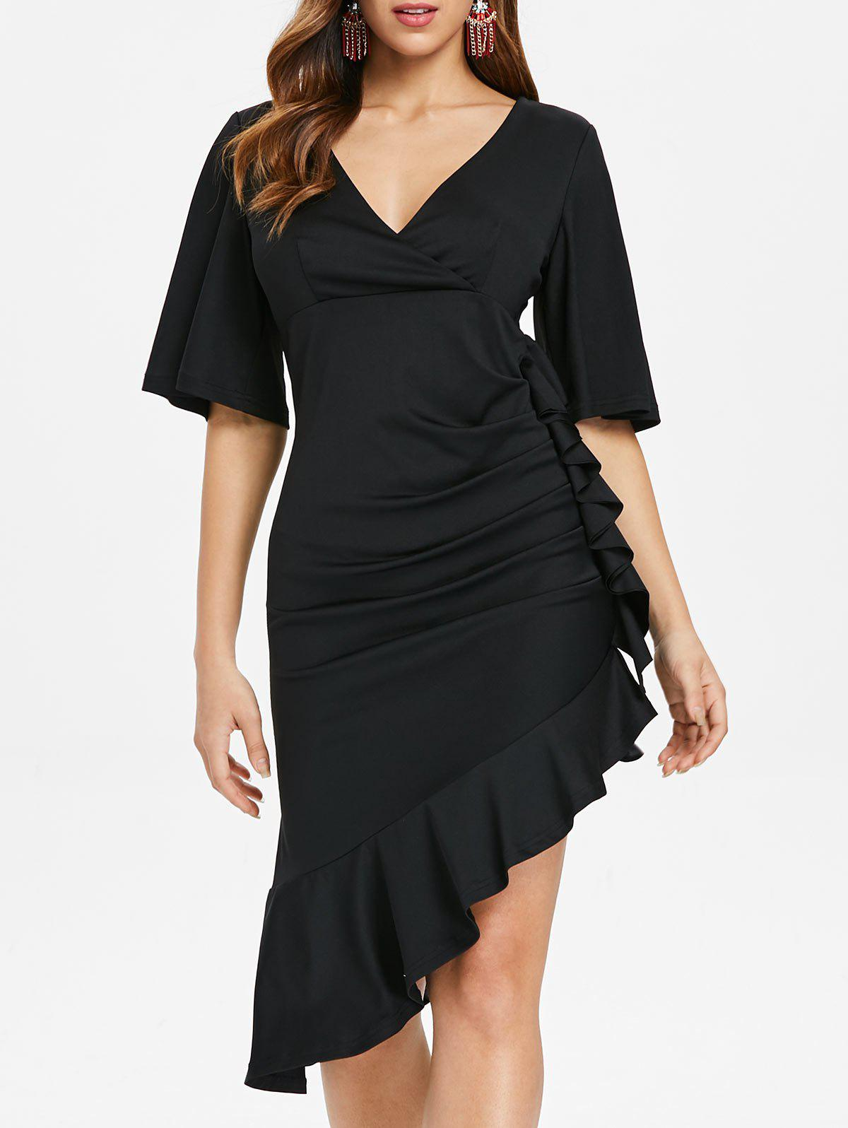 Trendy Ruffle Trim Empire Waist Dress