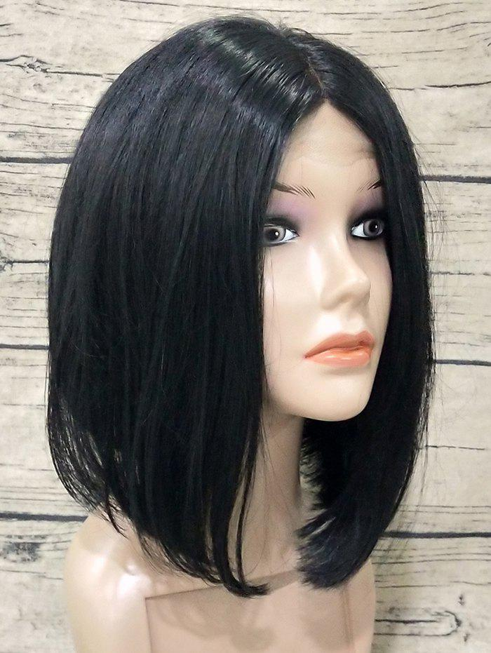 Fancy Short Middle Part Straight Bob Lace Front Synthetic Wig