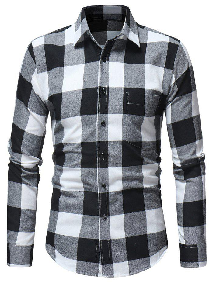 Sale Chest Pocket Check Print Casual Shirt