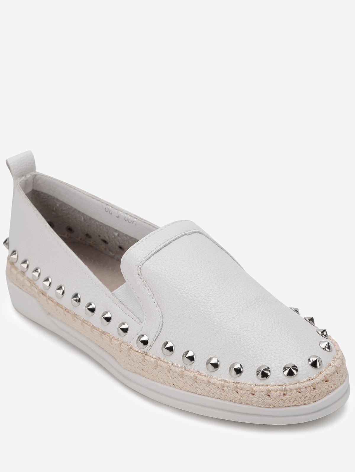 Best Rivet Trim Slip-on Espadrille Casual Sneakers