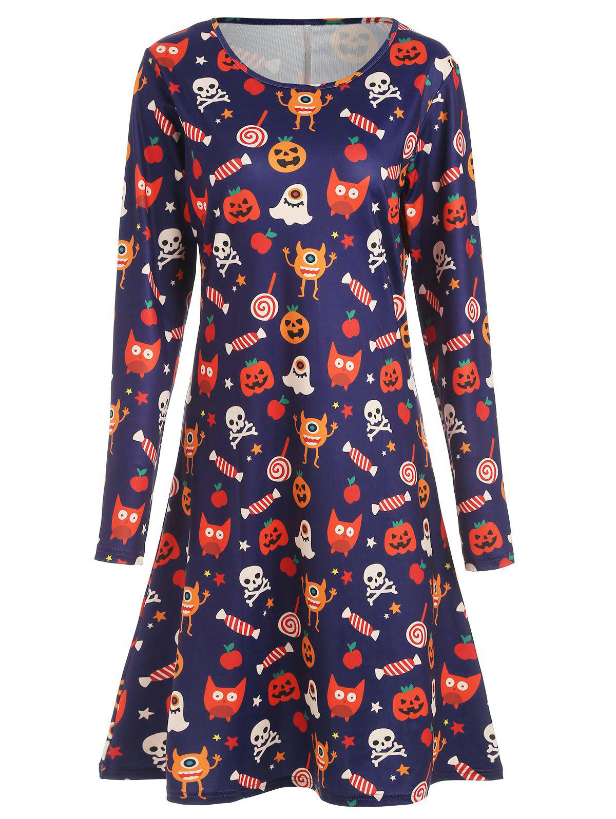 Best Halloween Knee Length Print Dress