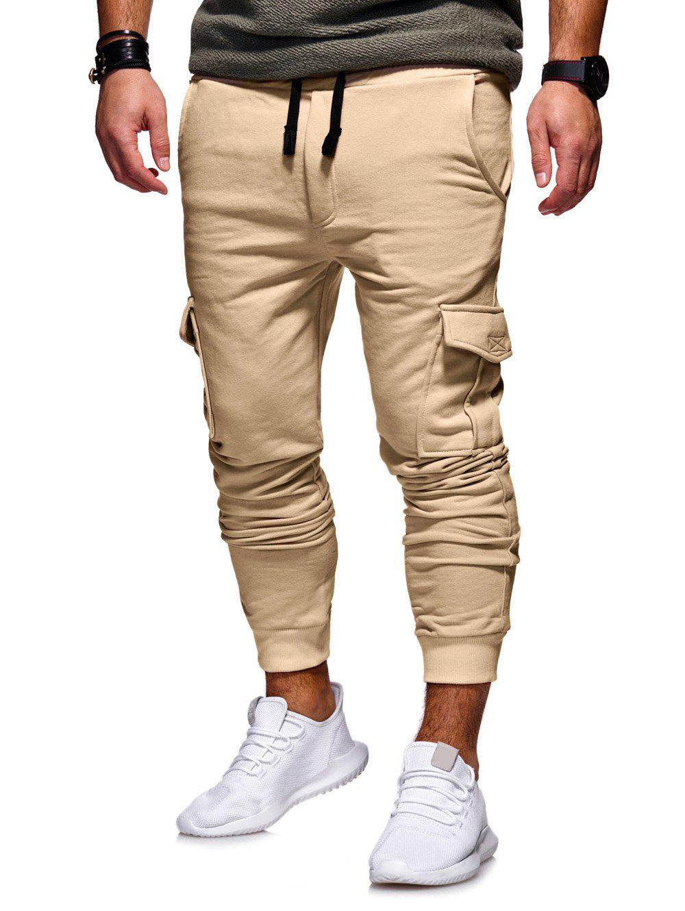 Discount Casual Side Pockets Fleece Jogger Pants
