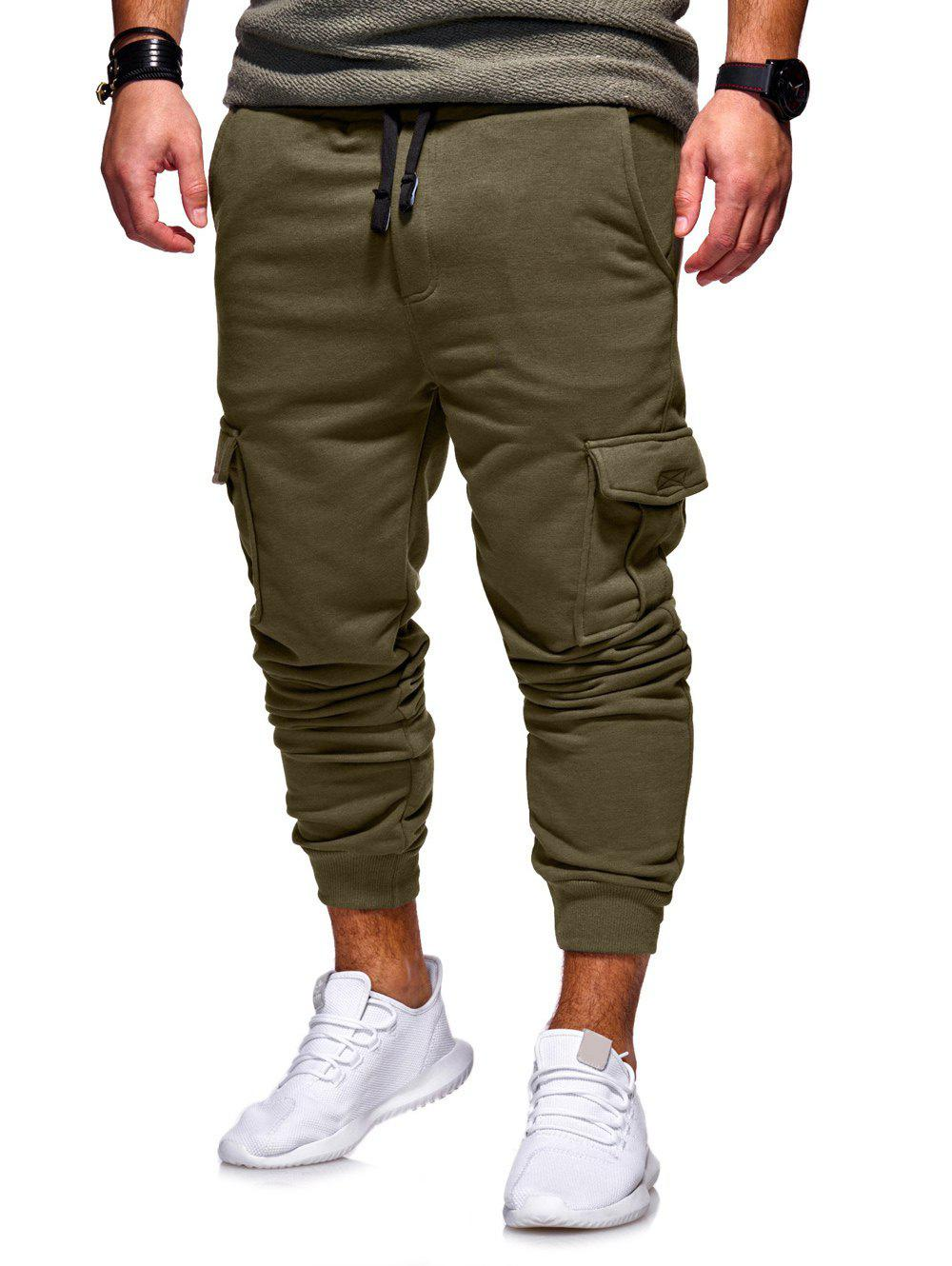 Buy Casual Side Pockets Fleece Jogger Pants