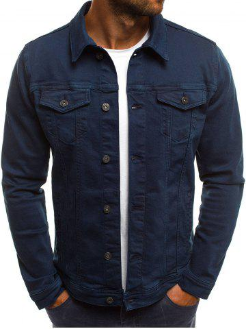 Chest Flap Pockets Casual Jacket