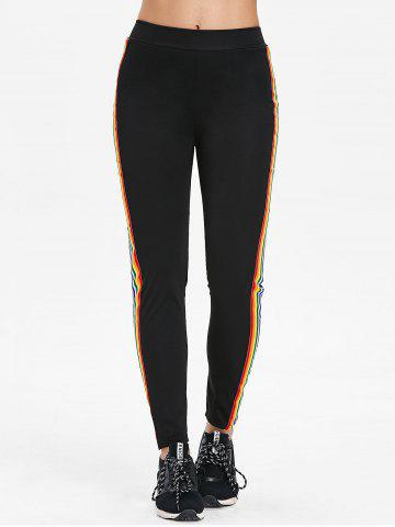 Rainbow Strips Casual Pants